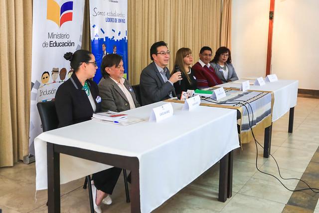 Rueda de Prensa: Apoyo docente