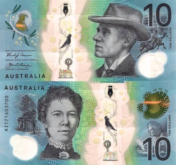 10 Dolárov Austrália 2017, polymer P63
