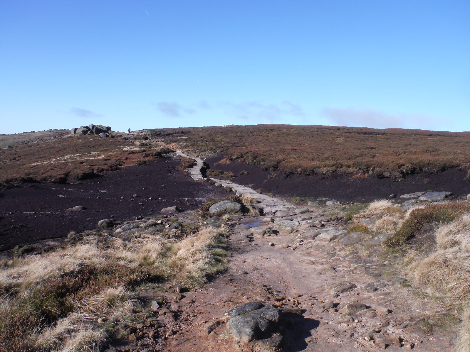 Paved Path through Boggy Ground SWC Walk 304 - Kinder Scout Circuit (from Edale)