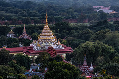 Buddhist emple at foot of Mandalay Hill - Myanmar