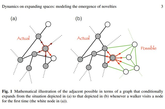 Dynamics on expanding spaces- modeling the emergence of novelties