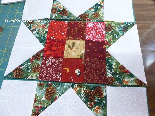 Nine Patch Star at From My Carolina Home