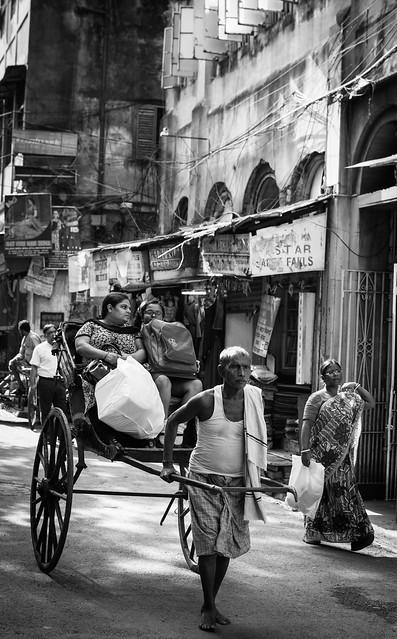 Hand Pulled Rickshaw -Calcuta