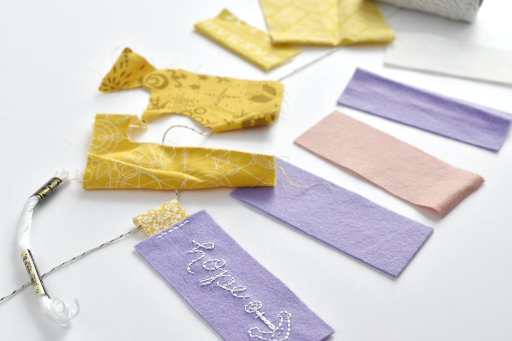 Embroidered Felt Advent Candle Garland