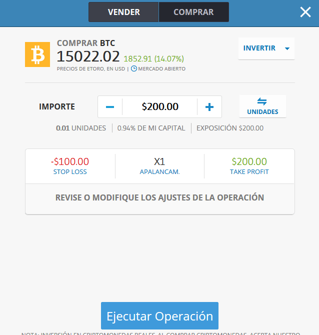 comprar Bitcoins o vender