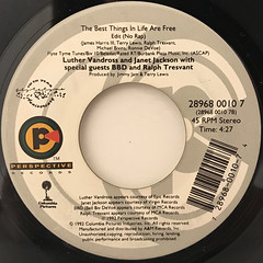 LUTHER VANDROSS AND JANET JACKSON:THE BEST THINGS IN LIFE ARE FREE(LABEL SIDE-B)