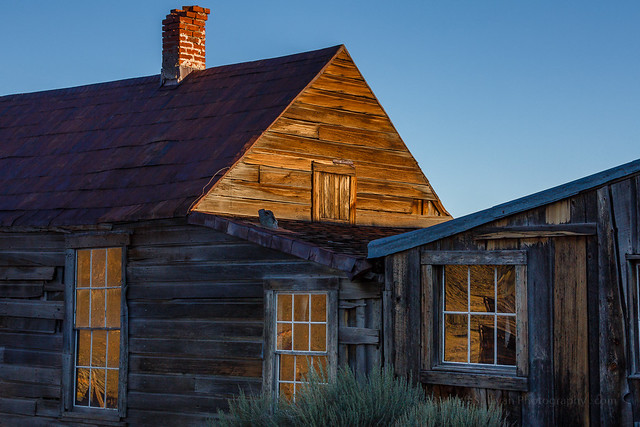 Bodie Windows at Sunset