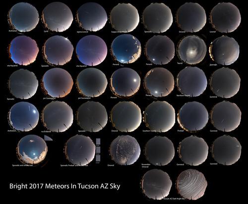 Bright meteors of 2017 in Tucson AZ sky