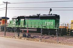 BNSF SD40-2 No. 7285 At Hobart Yard