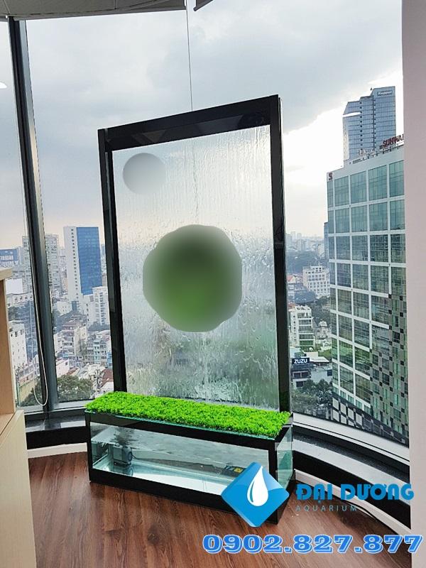 Thác nước trên kính tại Deloitte