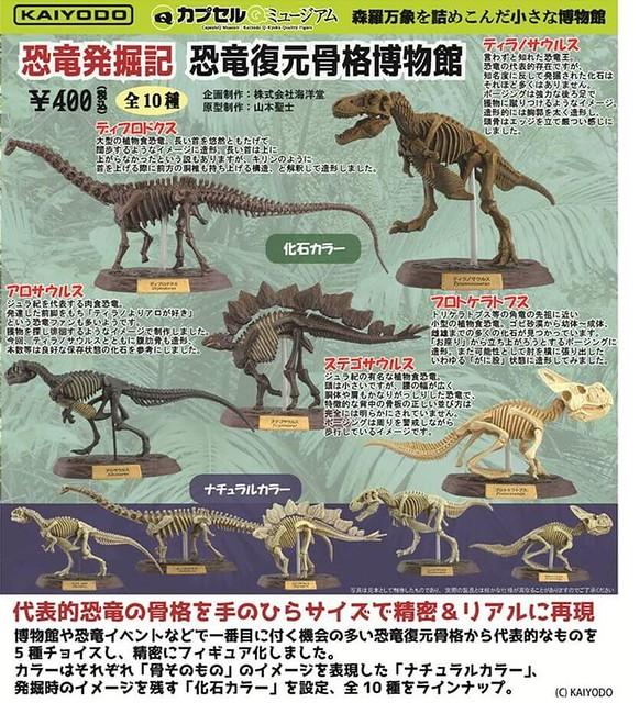 海洋堂《膠囊Q博物館》「恐龍發掘記 恐龍復元骨格博物館」考古登場!カプセルQミュージアム「恐竜発掘記 恐竜復元骨格博物館」