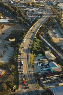US41 DixieHwyAerial-OverRailway-Atlanta-Nov2015