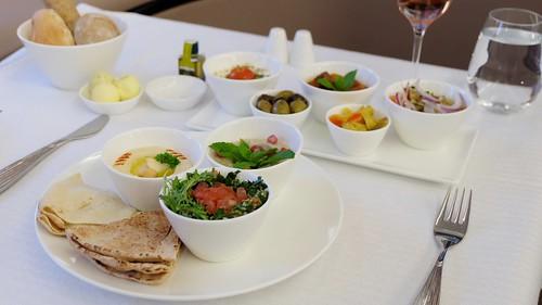 First Class In-flight Meal - Qatar Airways