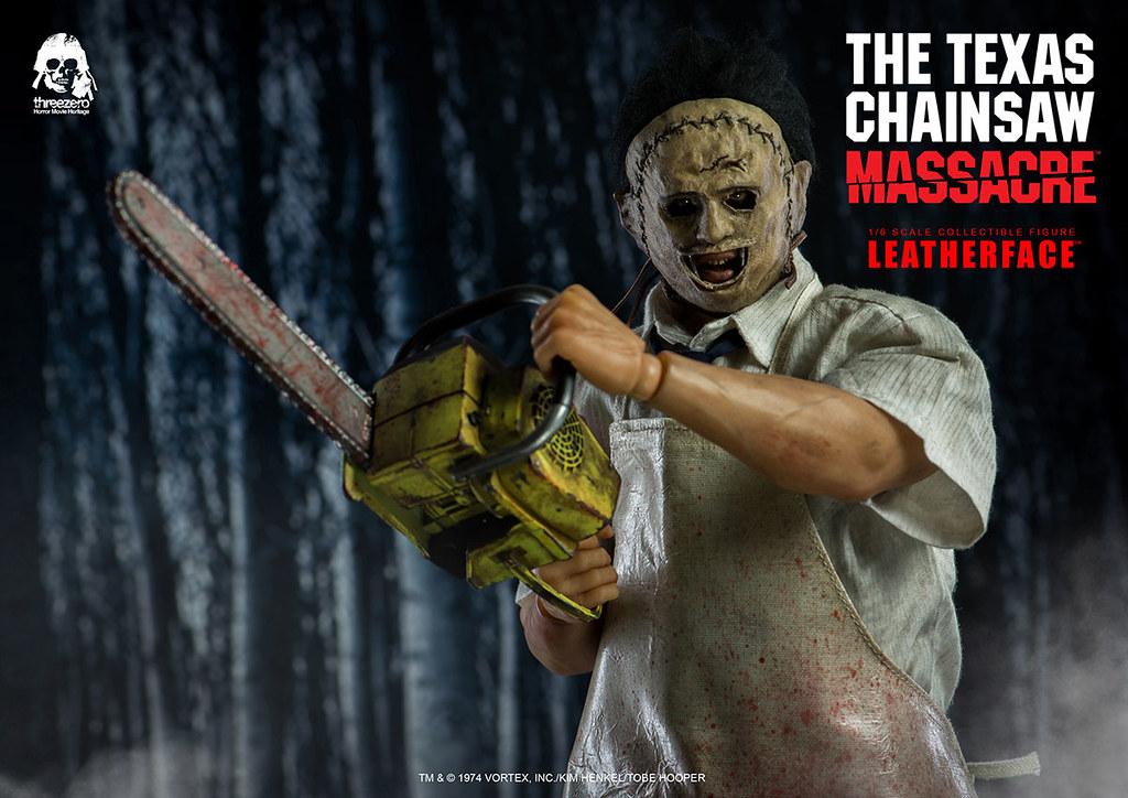 喚起心中最深層的恐懼!! threezero《德州電鋸殺人狂》皮臉 豪華版 The Texas Chain Saw Massacre Leatherface 1/6 比例可動人偶