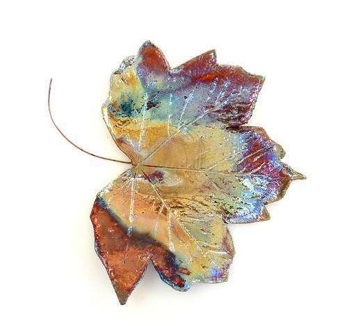 raku leaf dish