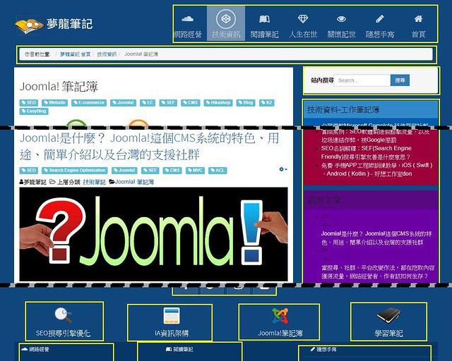 Joomla!的前台模組顯示內容