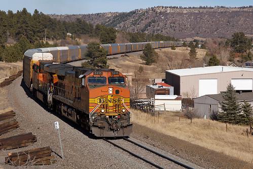 bnsf bnsf5315 larkspur colorado jointline biglift train railroad ge generalelectric c449w