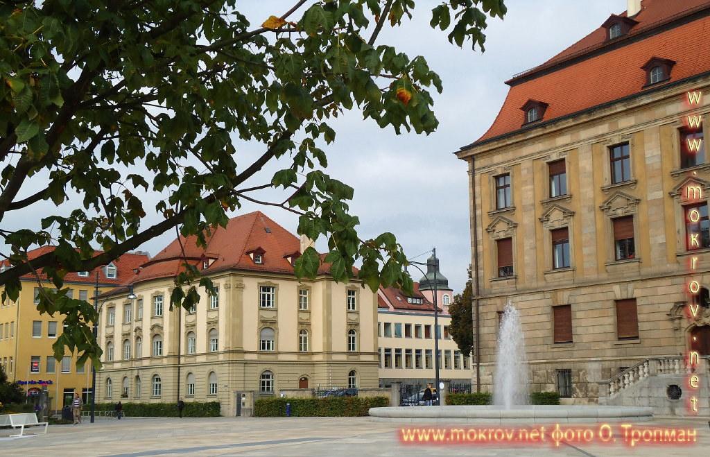 Город Швайнфурт прогулки туристов с Фотоаппаратом