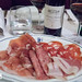 Salami and ham plate with our bottle of Antinori Marchese Chianti Classico Riserva 2011