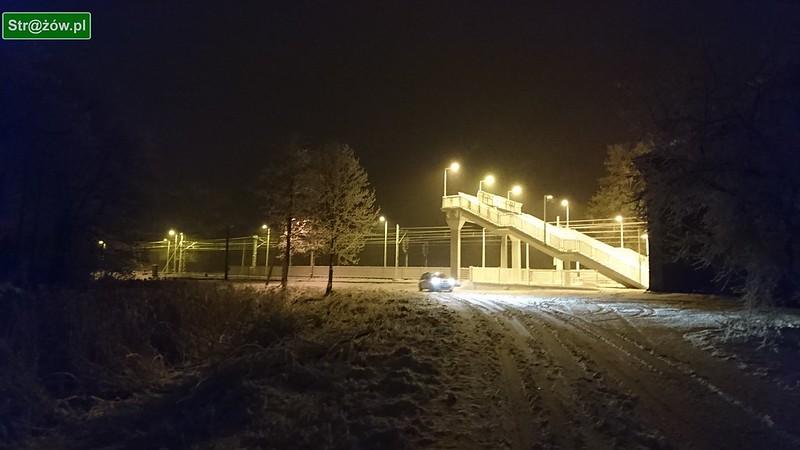 Strażów pokryty śniegiem