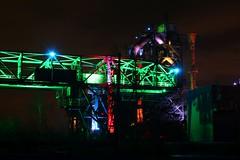 Lichtinstallation im Landschaftspark Duisburg