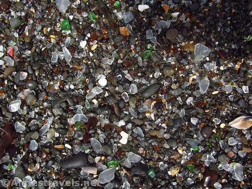 Sea glass on Glass Beach, California