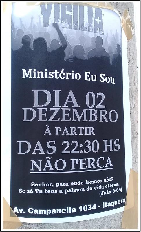 VIGÍLIA NA  IGREJA MINISTÉRIO EU SOU ITAQUERA - SP
