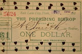 Presiding Bishop One Dollar note