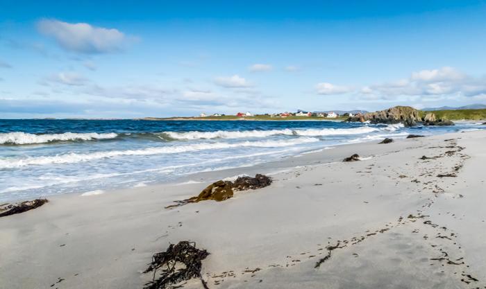 Norja Norway Andøya ranta valkoinen hiekka maisema Lofootit