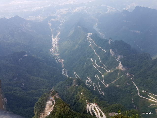 Tianmen Mountain roads