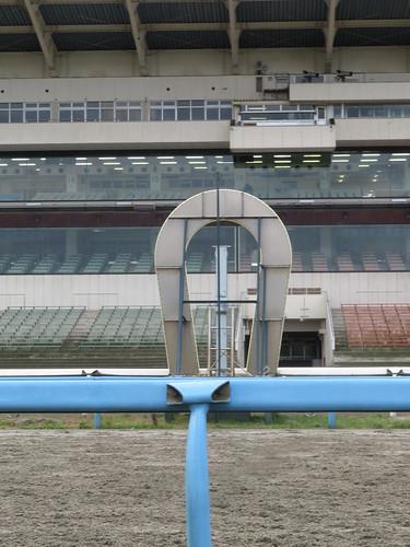 金沢競馬場のゴール板の裏