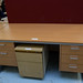 Beech straight desk with double odds E175