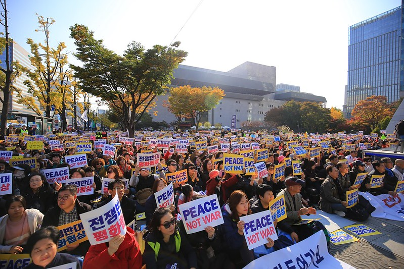 20171105_전쟁반대 평화협상 집회