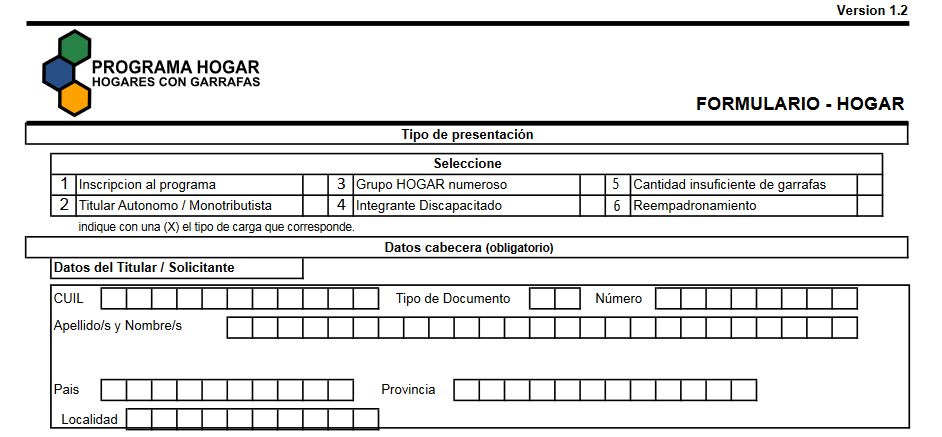 Anotarse al Programa Hogar