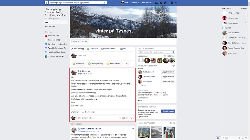 facebook tysnes 2