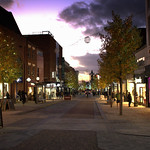 Sun goes down over Fishergate