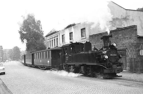 DR 99 594 (ex K.Sächs.Sts.E.B. IV K 184; Hartmann 1914; Reko Raw Görlitz 27.05.1963) Bw Aue (TES Kirchberg)