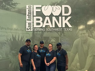 Our San Antonio, TX team volunteering at San Antonio Food Bank!
