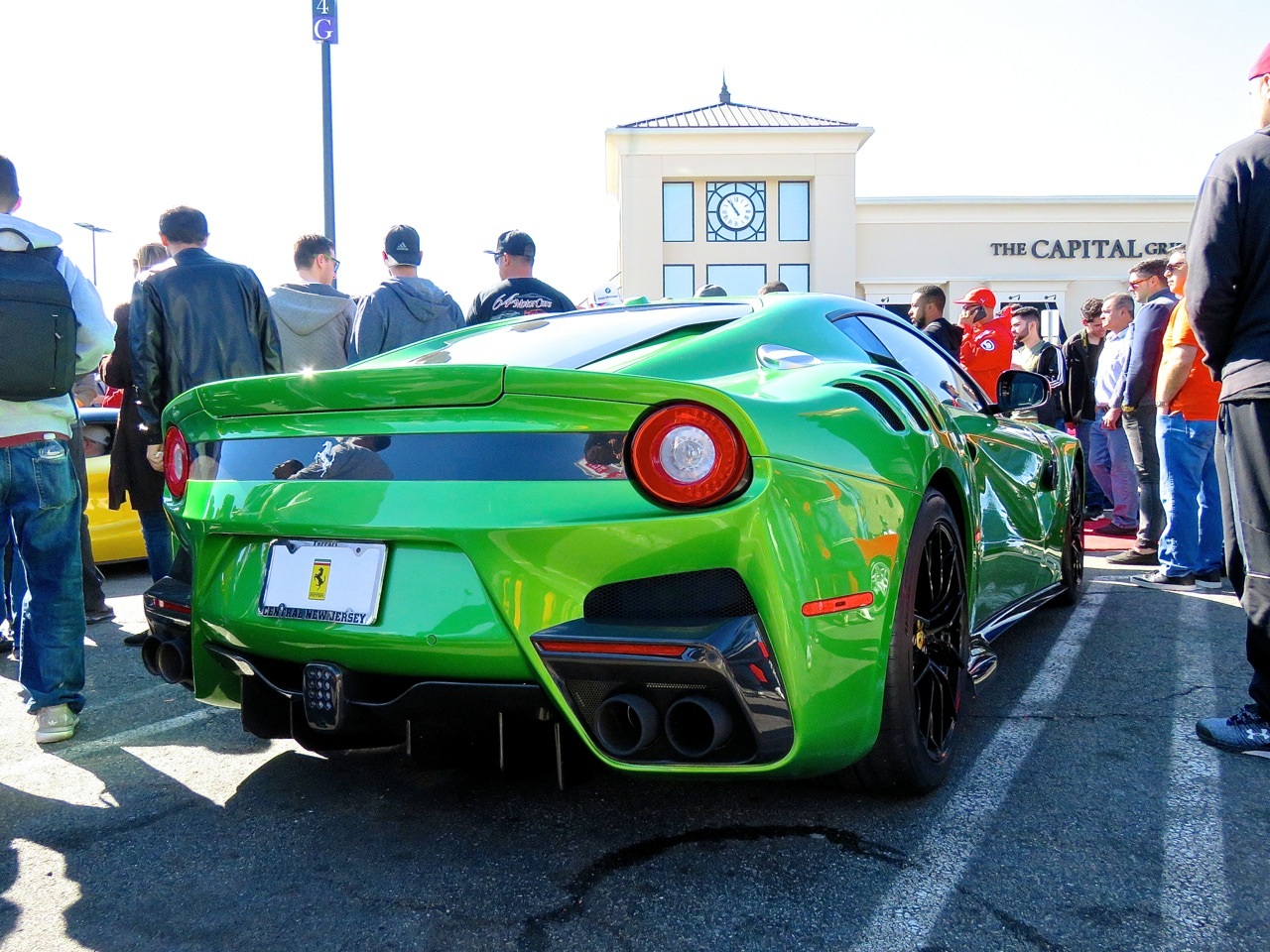 Green Ferrari F12 TDF at Garden State Plaza 3