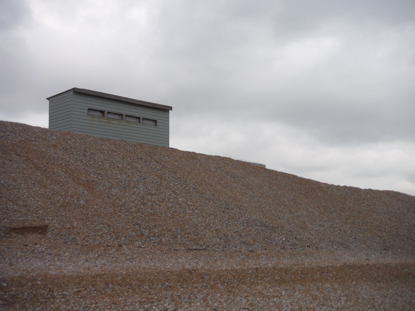 Dungeness Bird Hide on Tsunami Defence Shingle Wall SWC 154 - Rye to Dungeness and Lydd-on-Sea or Lydd or Circular