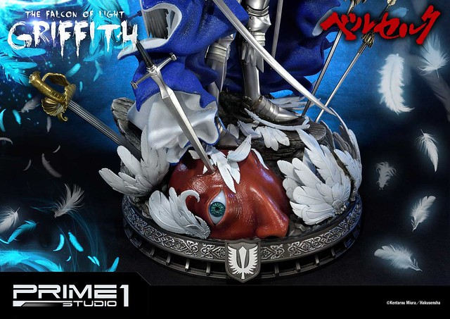 誓言要登上夢想頂端的白鷹!Prime 1 Studio《烙印勇士》古力菲斯(光之鷹)ベルセルク グリフィス(光の鷹)UPMBR-05EX  1/4 比例全身雕像作品