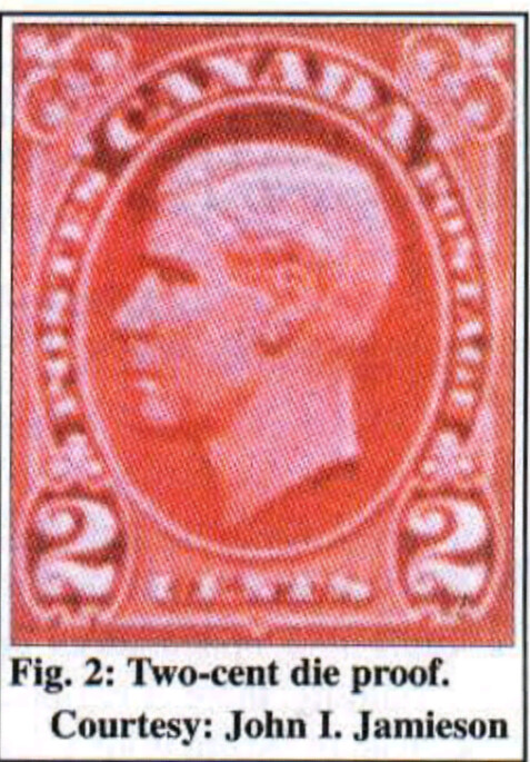 Canada 2-cent red essay for unissued Edward VIII stamp