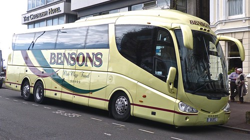 B1 BTL 'Bensons' (Tattenhall). Scania K124EB6 / Irizar PB on 'Dennis Basford's railsroadsrunways.blogspot.co.uk'