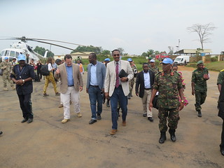 Visite du DSRSG Gressy et l'Ambassadeur tanzanien a Beni