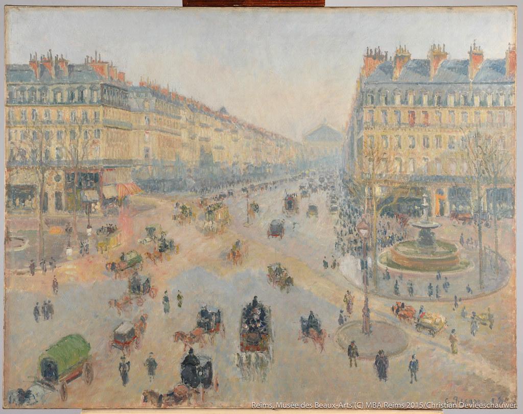 カミーユ・ピサロの《オペラ座通り、テアトル・フランセ広場》(1898年)