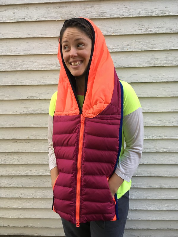 Just like magic...in which a down jacket becomes a down scarf