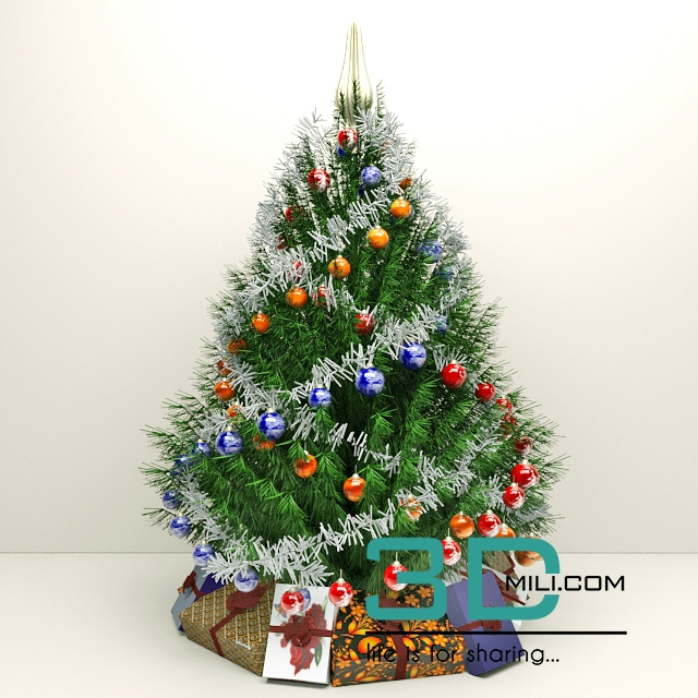 Christmas Tree Images Free Download.92 Christmas Trees 3d Mili Download 3d Model Free 3d