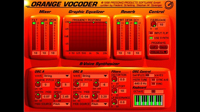 Prosoniq Orange Vocoder