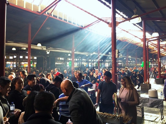 Smoky Satay for free- Victoria Market