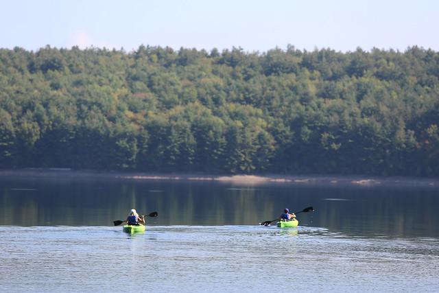 Kayaking at Neversink Reservoir